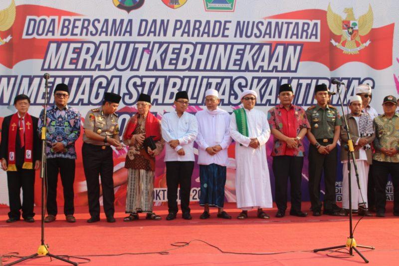 Doa Bersama dan Parade Nusantara Merajut Kebhinekaan dan Menjaga Stabilitas Kamtibmas Kota Malang.