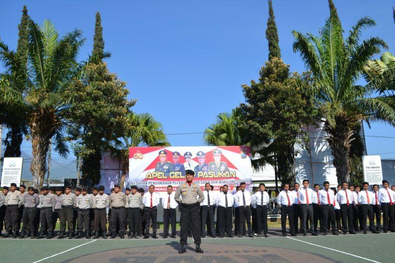 Polres Batu Gelar Apel Pasukan Jelang Pelantikan Presiden dan Wakil Presiden