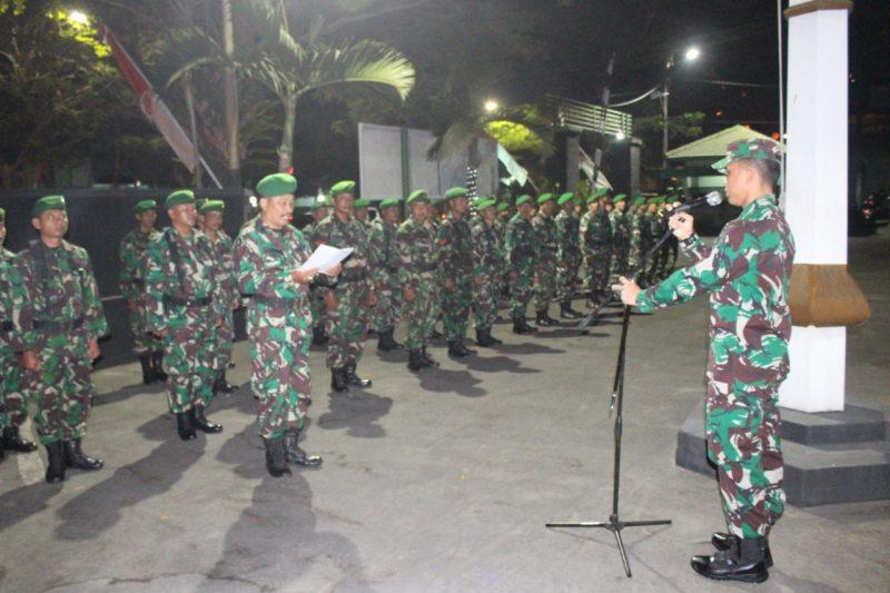 Dandim 0833/Kota Malang Pimpin Apel Siaga Jelang Pelantikan Presiden Dan Wakil Presiden