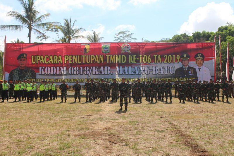 TMMD 106 Kodim 0818/Kab. Malang – Batu Resmi ditutup