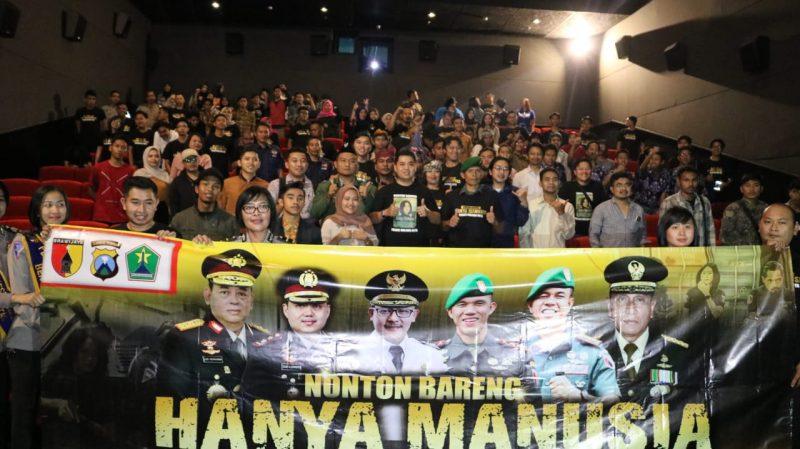 Polres Malang Kota Menggelar Nobar Film Hanya Manusia