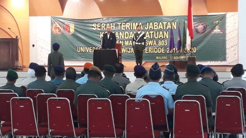 Danramil 0833/05 Hadiri Pelantikan Dansat Menwa 803 Universitas Brawijaya Malang