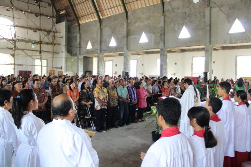 Luar Biasa, Misa Perdana Gereja ITN Malang Bersamaan Hari Raya Yesus Kristus Raja Semesta Alam