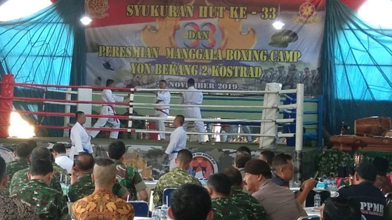 Yon bekang 2 Kostrad Resmikan Sasana Tinju Manggala Boxing Camp Yon Bekang 2 Kostrad
