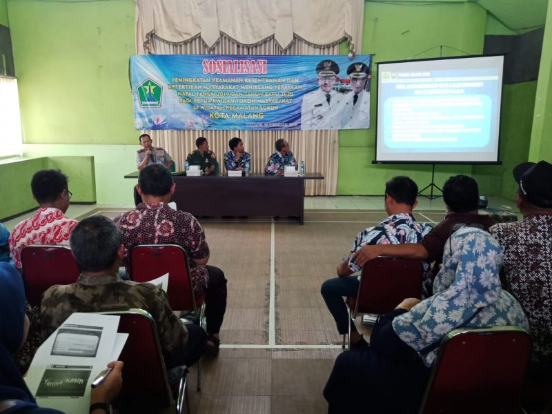 Sosialisasikan Peningkatan Keamanan dan Ketentraman Masyarakat Bersama Danramil 0833/04 Sukun