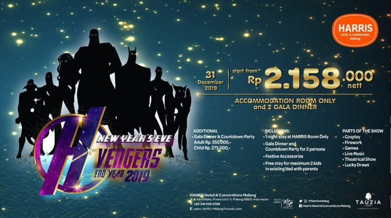 Rayakan Tahun Baru di HARRIS Hotel & Conventions Malang dengan H-vengers End Year