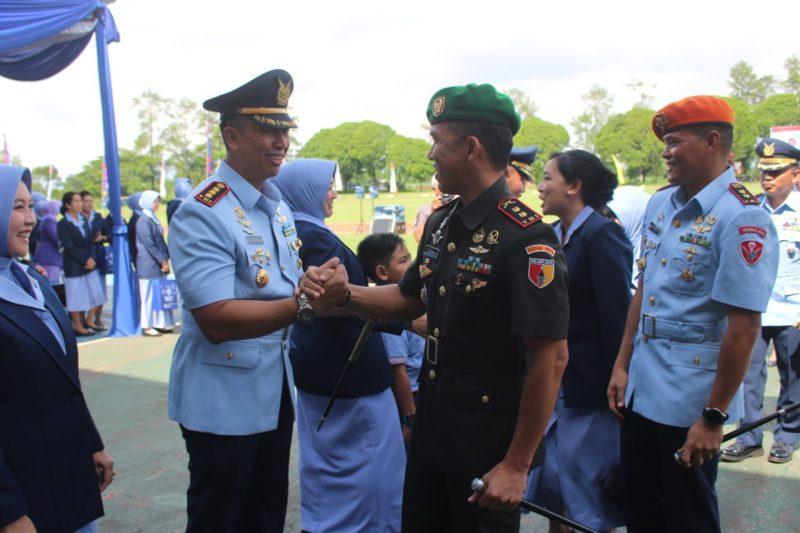 Dandim 0833/Kota Malang Hadiri Sertijab  Danwing 2 Lanud Abdulrachman Saleh