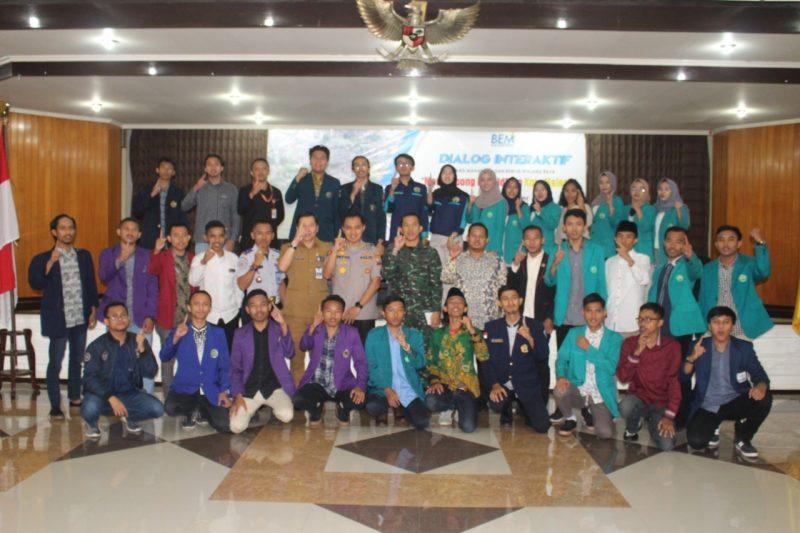 Dandim 0833/Kota Malang Narasumber Dialog Interaktif Aliansi Mahasiswa dan BEM Se-Malang Raya