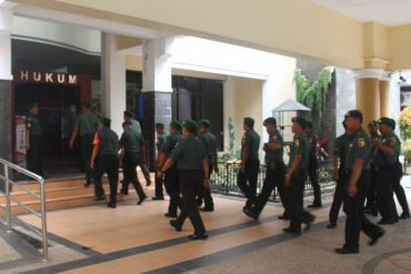 Puluhan Babinsa Kodim 0833 Kota Malang Serbu Fakultas Hukum UB Malang