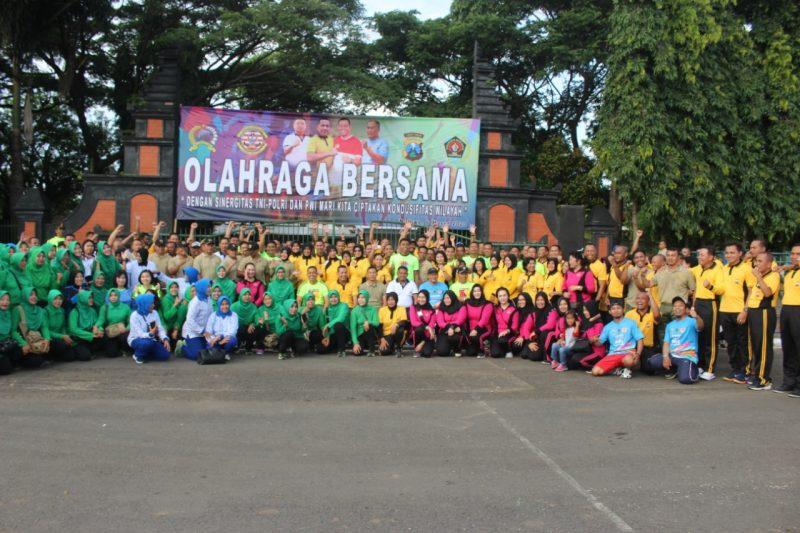 Sinergitas TNI-Polri diwujudkan Dalam Olahraga Bersama di Wilayah Kota Malang