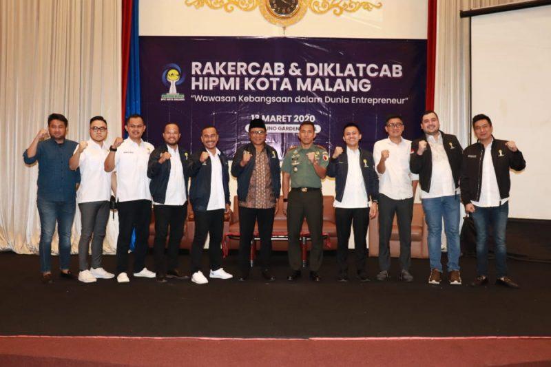 Dandim 0833 Menjadi Narasumber Rakercab dan Diklatcab HIPMI Kota Malang