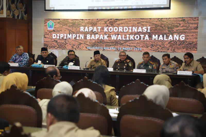 Walikota Malang Tindaklanjuti Penetapan Status KLB Convid 19 dari Pemerintah Pusat