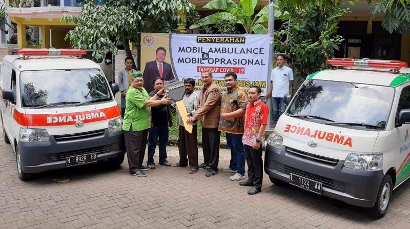 Ridwan Hisjam Bantu Penanganan Corona dengan Berikan Bantuan Mobil Ambulance