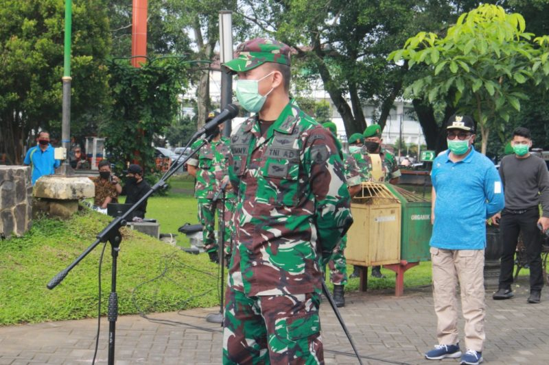 Dandim 0833/Kota Malang Pimpin Apel Sinergitas Forkopimda Kota Malang Lawan Corona