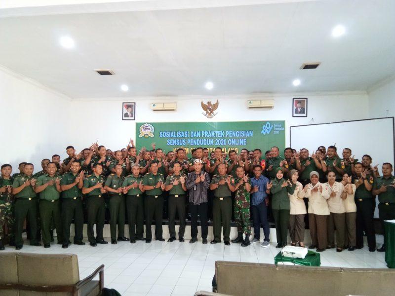 Dandim 0833 Kota Malang Pelopori Sensus Penduduk Online Serempak