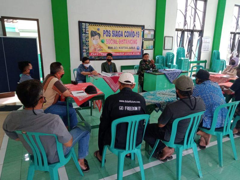 Babinsa Kelurahan Kotalama Hadiri  Penyuluhan Lumbung Pangan Kampung dari Tim Satgas Covid-19 Universitas Brawijaya Malang