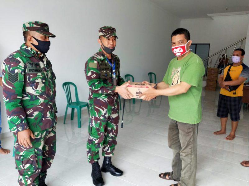 Dandim 0833/Kota Malang Kunjungi Posko Relawan covid 19 Ikatan Flobamora Malang raya