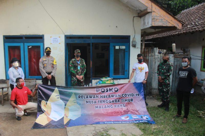 Dandim 0833/Kota Malang Bersama MBLC dan Satgas Covid-19 UB Kunjungi Posko Relawan Covid-19 NTT/NTB Malang Raya