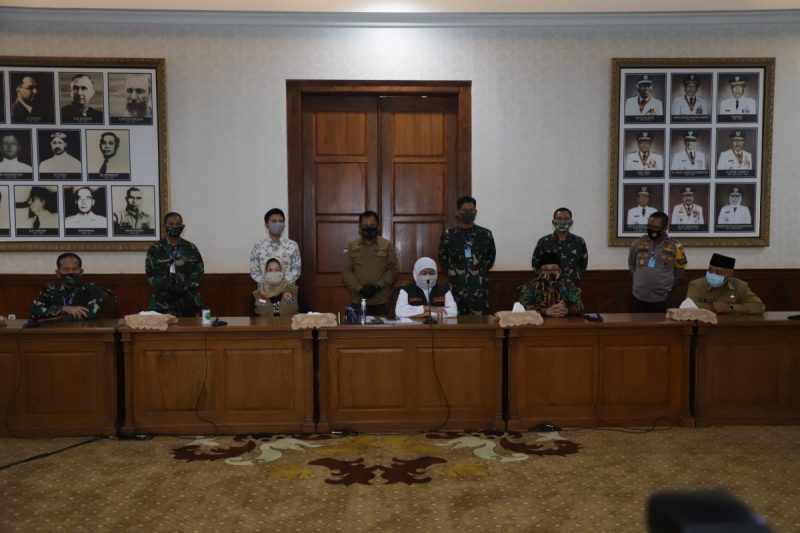 Sepakat PSBB di Malang Raya, Gubernur Khofifah Siap Ajukan Penetapan PSBB ke Kementerian Kesehatan