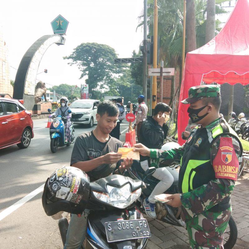 5 Pos Check Point Pencegahan Covid-19 di Kota Malang Mendapat Support Personil Kodim 0833 Kota Malang