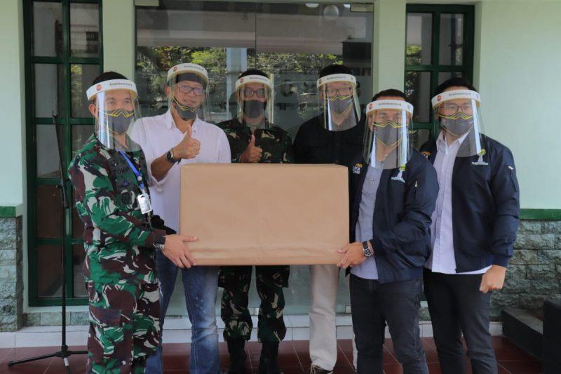 Relawan Malang, Jade dan HIPMI IOF Menyalurkan Bantuan Lewat Kodim 0833 Kota Malang.