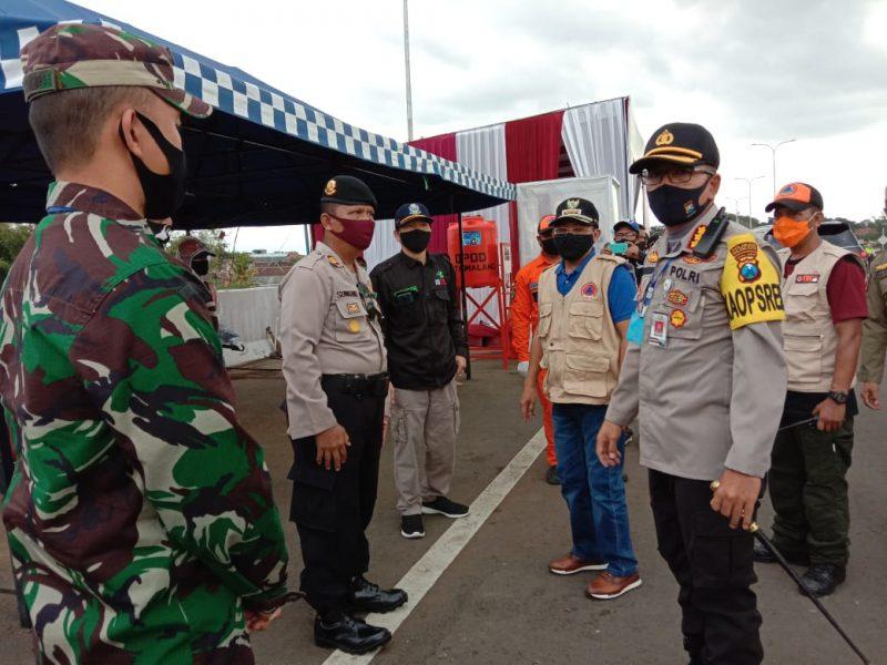 Dandim 0833/Kota Malang Bersama Walikota dan Kapolresta Malang Kota Meninjau Kesiapan Cek Point Kendaraan