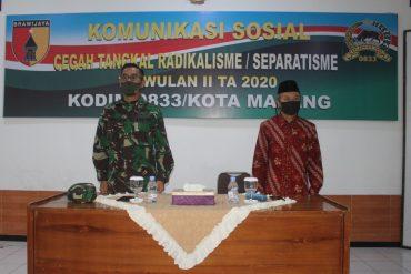 Kasdim 0833/Kota Malang Ingatkan Pencegahan Tangkal Radikalisme Separatisme di wilayah Kota Malang