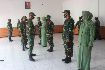 Dandim 0833 Kota Malang Pimpin Sertijab di Aula Makodim Kota Malang
