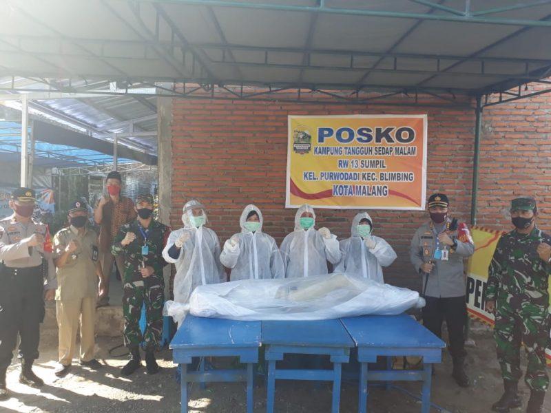 Dandim 0833 Kota Malang Bersama Kapolresta Malang Kota Resmikan Kampung Tangguh Sedap Malam