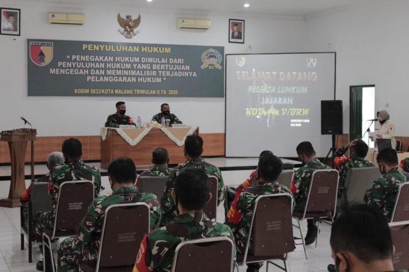 Personil Kodim 0833 Kota Malang Dibekali Pengetahuan tentang Hukum