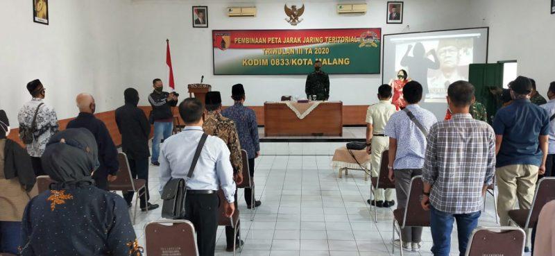 Kodim 0833 Kota Malang Gelar Kegiatan Pembinaan Peta Jarak Jaring Teritorial