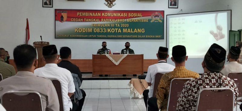 Kodim 0833 Kota Malang Gelar Pembinaan Komsos Cegah Tangkal Radikalisme/Separatisme