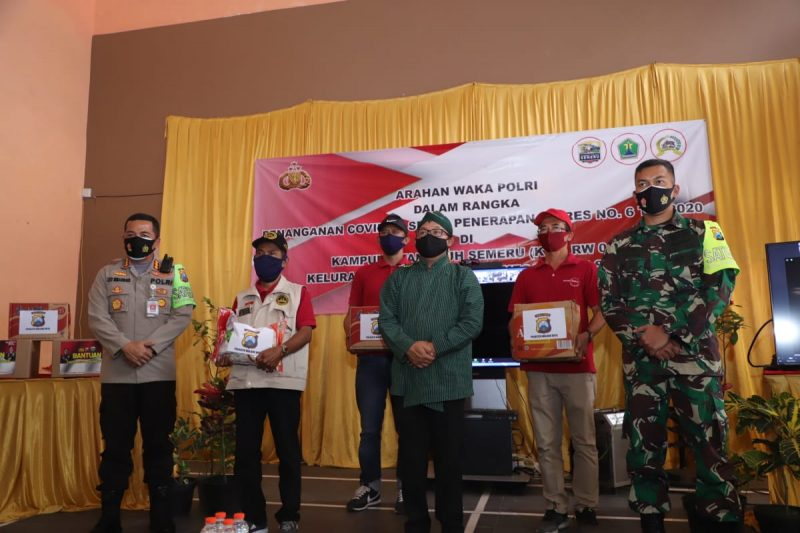 Dandim 0833 Kota Malang Hadiri  Arahan Wakapolri Secara Virtual Tentang Penanganan Covid-19