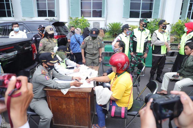 Jutaan Uang Denda diraup dari Pelanggaran Protokol Kesehatan Hari Pertama di Kota Malang