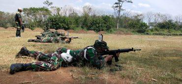 Kodim 0833 Kota Malang Menggelar Latihan Menembak