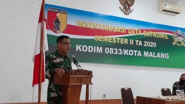 Kasdim 0833 Kota Malang Buka Kegiatan Inventarisasi Data Satkowil