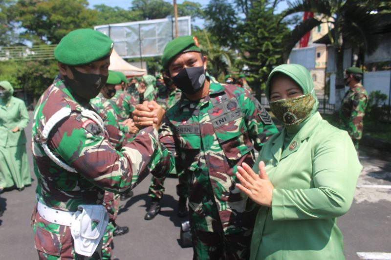 Dandim 0833 Kota Malang Melantik Puluhan Prajuritnya Naik Pangkat