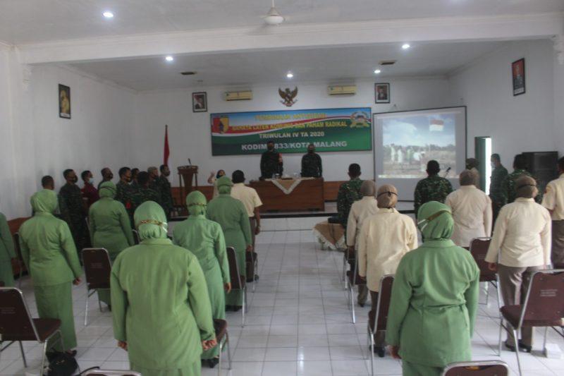 Kodim 0833 Kota Malang Gelar Pembinaan Balatkom dan Pencegahan Paham Radikal