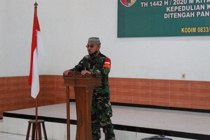 Kodim 0833 Kota Malang Menggelar Peringatan Maulid Nabi Muhammad SAW 1442 H