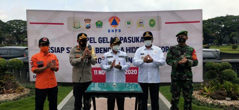 Kasdim 0833 Kota Malang Hadiri Apel Gelar Pasukan Kesiap Siagaan Bencana Hidrometeorologi Kota Malang