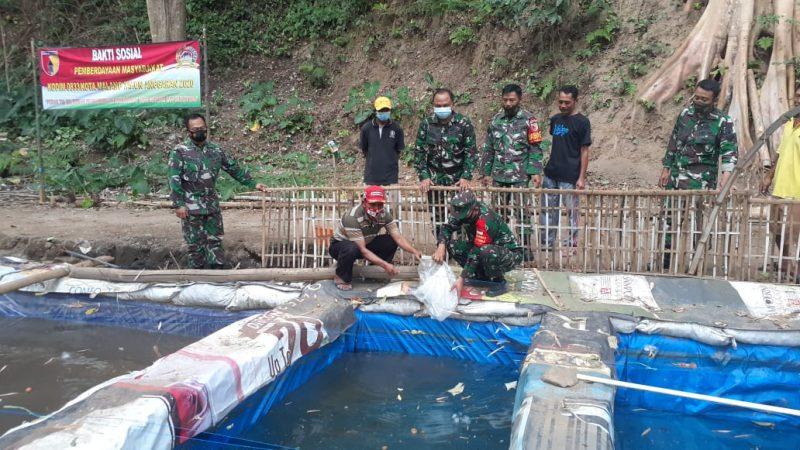 Kodim 0833 Kota Malang Berikan Bantuan 5.000 Bibit Lele