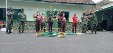 Para Siswa Pramuka Antusias Belajar Bersama Kodim 0833 Kota Malang