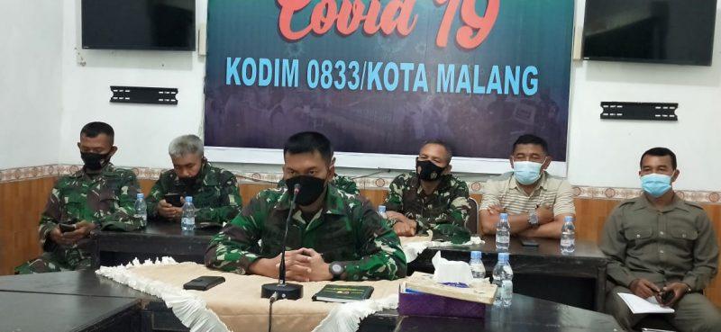 Dandim 0833 Kota Malang Mengikuti Rapat Koordinasi PPKM Secara Virtual Bersama Gubernur Jatim