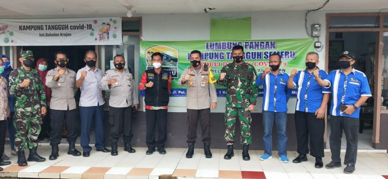 Kapolresta Malang Kota bersama Dandim 0833 Malang Kota Tinjau Kampung  Tangguh Bakalan Krajan