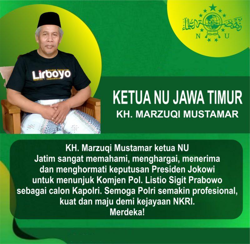 Tokoh Elit Muslim di Jatim Dukung Komjen Pol. Listio Sigit Prabowo Sebagai Calon Kapolri