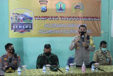 Kapolresta Malang Kota dan Dandim 0833 Kota Malang Berikan Apresiasi Kampung Tangguh Semeru RW.09 Sawojajar