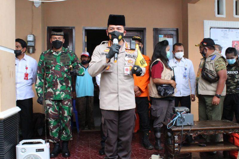 Kapolresta Malang Kota Bersama Dandim 0833 Sampaikan Ucapan Belasungkawa untuk Korban Banjir di Kota Malang