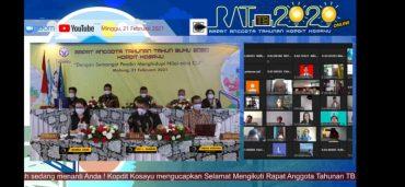 99% lebih Anggota Kopdit Kosayu Ikut RAT secara Online